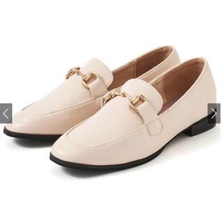 グレイル(GRL)の新品★GRL ビットデザインローファー[zr655] アイボリー 24.0cm(ローファー/革靴)