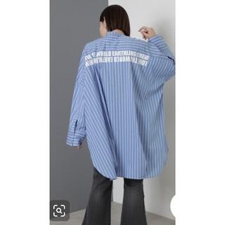 ローズバッド(ROSE BUD)の【新品】ROSE BUD ローズバッド   バンドカラービッグシェイプドシャツ(シャツ/ブラウス(長袖/七分))