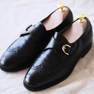 サルヴァトーレフェラガモ(Salvatore Ferragamo)のferragamoフェラガモ モンクストラップ 黒6EE(ドレス/ビジネス)