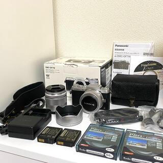 Panasonic - Panasonic DMC−GF7WーS ダブルズームレンズキット 付属品多数