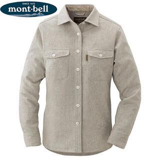 モンベル(mont bell)の[新品] モンベル ウールマウンテンシャツ HGYカラー Mサイズ(シャツ/ブラウス(長袖/七分))
