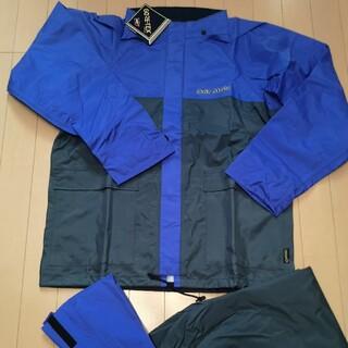 ゴアテックス レインウェア LL フィッシングスーツ ブルー アウトドア 釣り(ウエア)