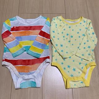 ベビーギャップ(babyGAP)のベビーギャップ 長袖肌着 ロンパース 2点セット(肌着/下着)
