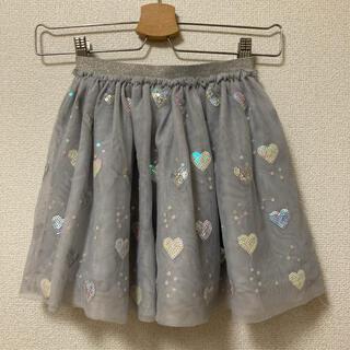 H&M 110cm スパンコール チュールスカート