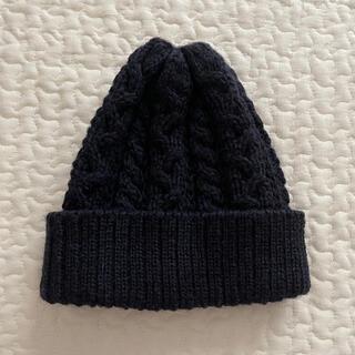 ダントン(DANTON)のクリッパーカジュアル ネイビー ニット帽(ニット帽/ビーニー)