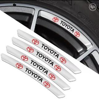トヨタ - TOYOTA アルミ材質高品質アルミホイールリムステッカー4pシルバー