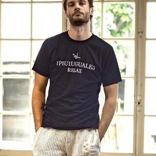 ウノピゥウノウグァーレトレ(1piu1uguale3)の1PIU1UGUALE3 RELAX ウノピュウ メンズ デジタルロゴ Tシャツ(Tシャツ/カットソー(半袖/袖なし))