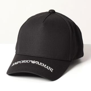 Emporio Armani - EMPORIO ARMANI  キャップ 黒