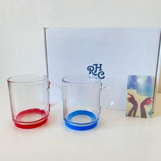 ロンハーマン(Ron Herman)のロンハーマンデュラレックス限定ペアグラスマグRonHermanDURALEX赤青(グラス/カップ)