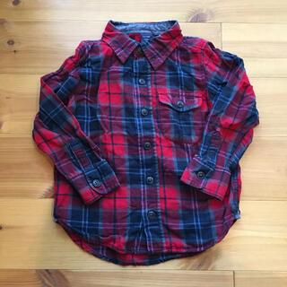 ベビーギャップ(babyGAP)の●ベビー ギャップ チェックシャツ  赤  100㎝  (ブラウス)