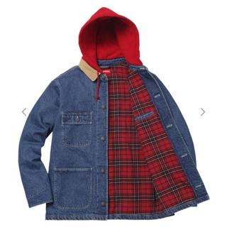 シュプリーム(Supreme)の17aw supreme hooded chore coat デニム denim(Gジャン/デニムジャケット)