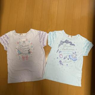 マザウェイズ(motherways)のマザウェイズ 2枚セット 130cm 半袖 T シャツ 綿 ゆめかわ フリル(Tシャツ/カットソー)