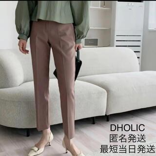 ディーホリック(dholic)のDHOLIC スリムスラックスパンツ ミントグリーン 韓国 Lサイズ コリアン(カジュアルパンツ)