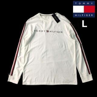 トミーヒルフィガー(TOMMY HILFIGER)のトミーヒルフィガー 長袖 Tシャツ ロンT トップス(L)白 181214(Tシャツ/カットソー(七分/長袖))