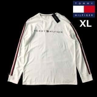 トミーヒルフィガー(TOMMY HILFIGER)のトミーヒルフィガー 長袖 Tシャツ ロンT トップス(XL)白 181214(Tシャツ/カットソー(七分/長袖))