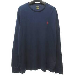 ポロラルフローレン(POLO RALPH LAUREN)のポロ ラルフローレン 美品 Tシャツ カットソー 長袖  M 紺 (Tシャツ/カットソー(七分/長袖))
