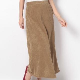 テチチ(Techichi)の【Lugnoncure】8Wコーデュロイセミフレアスカート(ロングスカート)