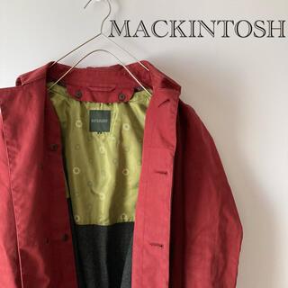 マッキントッシュフィロソフィー(MACKINTOSH PHILOSOPHY)のマッキントッシュフィロソフィートレンチコートステンカラーLlワインレッドオータム(トレンチコート)