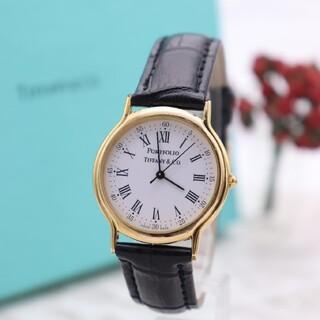 ティファニー(Tiffany & Co.)の正規品【新品電池】Tiffany& Co./PORTFOLIO 動作良好(腕時計(アナログ))