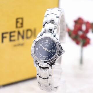 FENDI - 正規品【新品電池】FENDI 3500L/超美品 動作良好 ネイビー ズッカ柄