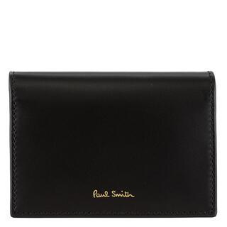 ポールスミス(Paul Smith)のPaul Smith カードケース AUXC 4776 W761A ブラック(名刺入れ/定期入れ)