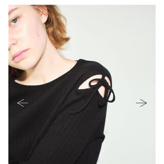 コムデギャルソン(COMME des GARCONS)の(送料込み)Soduk ribbon long t-shirts black(Tシャツ(長袖/七分))