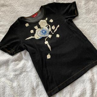 ピンクハウス(PINK HOUSE)の美品 ピンクハウス 花柄Tシャツ(Tシャツ(半袖/袖なし))