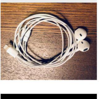 アップル(Apple)のアップル純正 イヤホン iPhone 8付属品 ライニングタイプ 動作確認済(ヘッドフォン/イヤフォン)