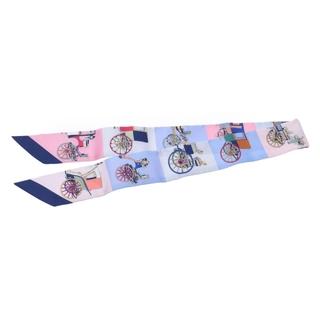エルメス(Hermes)のエルメス  ツイリー スカーフ ピンク/ライトブルー系(バンダナ/スカーフ)