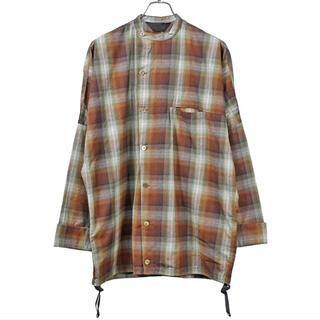 アンユーズド(UNUSED)のessay dolman slant shirt シャツ ネルシャツ(シャツ)