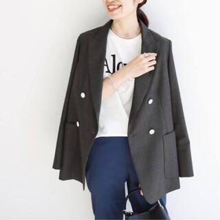 イエナ(IENA)のIENA ウールダブルブレストジャケット グレー(テーラードジャケット)