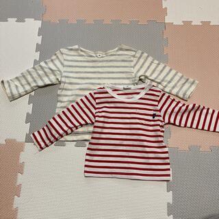 ムジルシリョウヒン(MUJI (無印良品))の乳幼児 長袖 80(シャツ/カットソー)