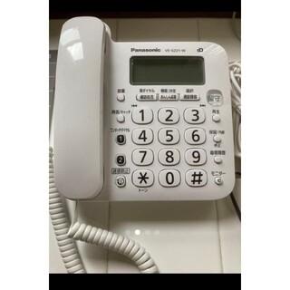 Panasonic - 【1週間使用】Panasonicパナソニック固定電話機親機のみVE-GZ21-w