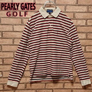 PEARLY GATES - PEARLY GATES パーリーゲイツ 日本製 ボーダー ゴルフ ポロシャツ