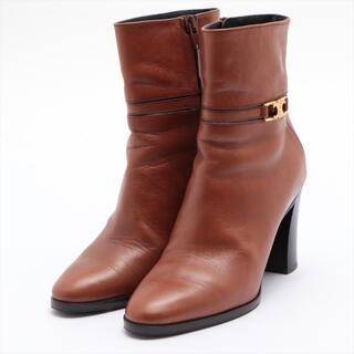 セリーヌ(celine)のセリーヌ トリオンフ レザー 35 ブラウン レディース ブーツ(ブーツ)
