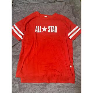コンバース(CONVERSE)のconverse all star ロゴ Tシャツ オーバーサイズ(Tシャツ/カットソー(半袖/袖なし))