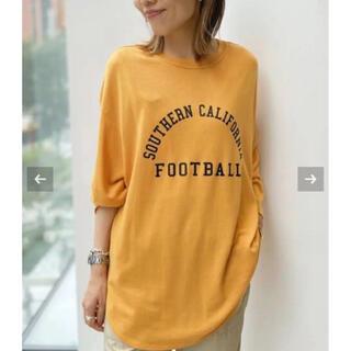 L'Appartement DEUXIEME CLASSE -  【Americana/アメリカーナ】Football T-sh イエロー