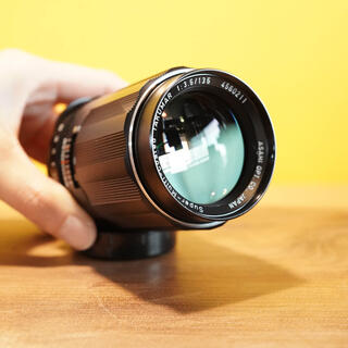ペンタックス(PENTAX)の【極上美品】S M C Takumar 135mm f3.5 ほぼ無傷の中望遠(レンズ(単焦点))