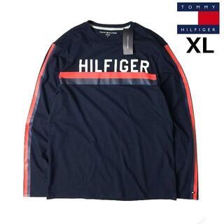 トミーヒルフィガー(TOMMY HILFIGER)のトミーヒルフィガー 長袖 Tシャツ ロンT トップス(XL)紺 181214(Tシャツ/カットソー(七分/長袖))