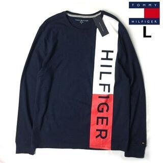 トミーヒルフィガー(TOMMY HILFIGER)のトミーヒルフィガー 長袖 Tシャツ ロンT トップス(L)紺 181214(Tシャツ/カットソー(七分/長袖))