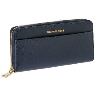 Michael Kors - 未使用 正規品 マイケルコース 長財布 レディース ネイビー ファスナー式