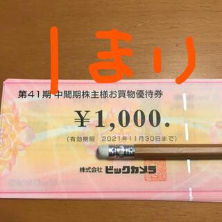 ビックカメラ 株主優待 1枚 1000円分 2022年11月末まで(ショッピング)