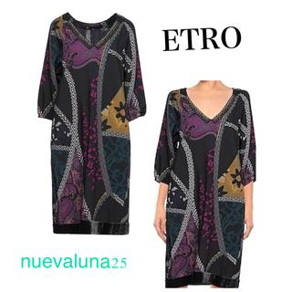 エトロ(ETRO)の最終値下げ セール☆極美品 ETRO エトロ ゆったり 暖か 秋冬 ドレス(ひざ丈ワンピース)