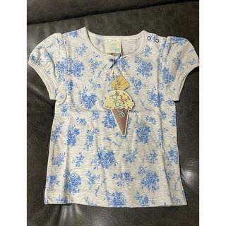 ジェラートピケ(gelato pique)の未使用タグ付きgelatopiquéジェラートピケキッズ 花柄カットソーTシャツ(Tシャツ/カットソー)