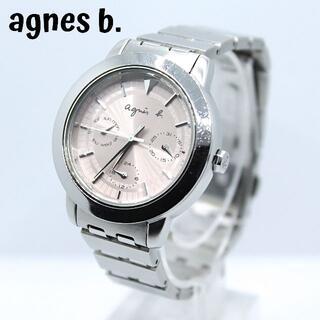 agnes b. - agnes b アニエスベー★トリプルカレンダー レディース腕時計 ライトピンク