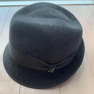 ドゥーズィエムクラス(DEUXIEME CLASSE)の値下!ミュールバウアー ハット 帽子 チャコールグレー(ハット)