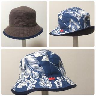 ブリーズ(BREEZE)のロースター キッズハット ハイビスカス×ブラウン 54cm(帽子)