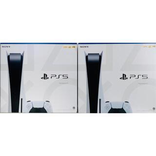 プレイステーション(PlayStation)の【新品・未使用】プレイステーション5  PS5  2台 セット(家庭用ゲーム機本体)