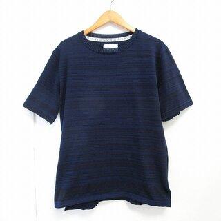 ナンバーナイン(NUMBER (N)INE)のナンバーナイン × STUDIOUS 別注 Tシャツ 半袖 ボーダー 紺 2(Tシャツ/カットソー(半袖/袖なし))