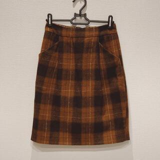 ローリーズファーム(LOWRYS FARM)のLOWRYS FARM コクーンスカート スエード調(ひざ丈スカート)